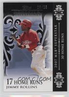 Jimmy Rollins (2007 MLB Superstar - 30 Home Runs) #/25