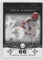 Ryan Howard (2007 - 100 Career Home Runs (129 Total)) #/25