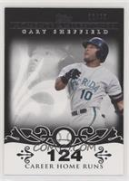 Gary Sheffield (2007 - 450 Career Home Runs (480 Total)) #/25