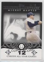 Mickey Mantle (20 Career All-Star Game Selections) #/25