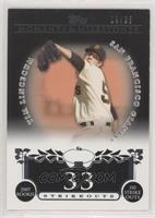 Tim Lincecum (2007 Rookie - 150 Ks) [EX to NM] #/25
