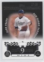 Jake Peavy (2007 Triple Crown Pitching - 19 Wins) #/25