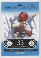 Vladimir Guerrero (2007 All-Star - 125 RBI) [Noted] #/10