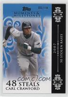 Carl Crawford (2007 - 50 Stolen Bases) /10