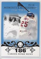 Jim Thome (2007 - 500 Career Home Runs (507 Total)) #/10
