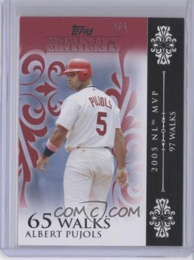 2008 Topps Moments & Milestones - [Base] - Red #15-65 - Albert Pujols (2005 NL MVP - 97 Walks) /1