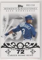 Alex Rodriguez (2007 - 500 Career Home Runs (518 Total)) #/150