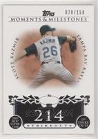 Scott Kazmir (2007 MLB Superstar - 239 Strikeouts) /150