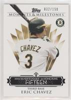 Eric Chavez (2002 Silver Slugger - 34 Home Runs) /150