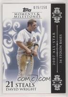David Wright (2007 All-Star - 34 Stolen Bases) /150
