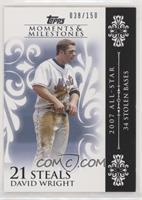 David Wright (2007 All-Star - 34 Stolen Bases) #/150