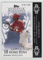 Jimmy Rollins (2007 MLB Superstar - 30 Home Runs) [Noted] #/150