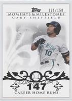 Gary Sheffield (2007 - 450 Career Home Runs (480 Total)) #/150