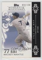 Mickey Mantle (1962 AL MVP - 89 RBIs) #/150