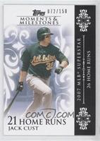 Jack Cust (2007 MLB Superstar - 26 Home Runs) /150