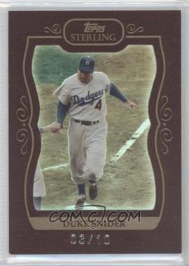 2008 Topps Sterling - [Base] - Burgundy Frame #47 - Duke Snider /10