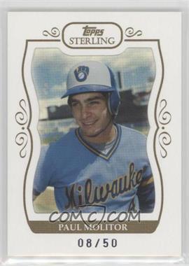 2008 Topps Sterling - [Base] - White Frame #306 - Paul Molitor /50