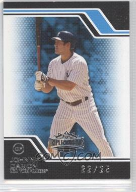 2008 Topps Triple Threads - [Base] - Sapphire #3 - Johnny Damon /25
