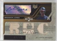Triple Relic Autograph - Brandon Jones #/75
