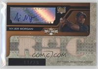 Triple Relic Autograph - Nyjer Morgan (RC) #/75