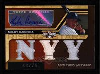 Triple Relic Autograph - Melky Cabrera (NYY) [Noted] #/75