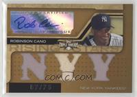 Triple Relic Autograph - Robinson Cano (Stars) [Noted] #/75