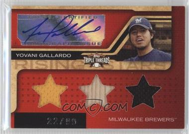 2008 Topps Triple Threads - [Base] #190 - Yovani Gallardo /99