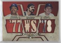 Reggie Jackson, Thurman Munson, Billy Martin #/36