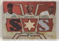 Jose Reyes, Ozzie Smith, Jimmy Rollins #/36