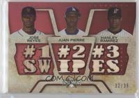 Jose Reyes, Juan Pierre, Hanley Ramirez /36