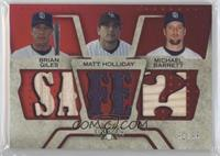 Brian Giles, Matt Holliday, Michael Barrett #/36