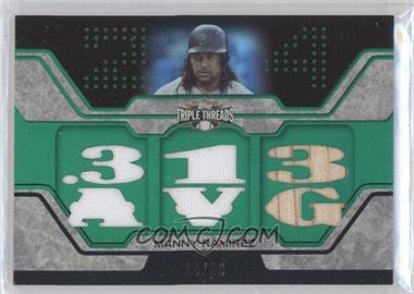 2008 Topps Triple Threads - Relics - Emerald #TTR-112 - Manny Ramirez /18