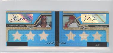 2008 Topps Triple Threads - Rookies and Rising Stars Autograph Relic Pairs - Sapphire #RSARP4 - Lastings Milledge, Elijah Dukes /10