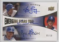Andre Ethier, James Loney, Russell Martin /10