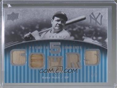 2008 UD Premier - Legendary Remnants 3 - Gold #LR3-BR - Babe Ruth /5