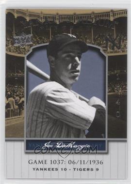 2008 Upper Deck - Multi-Product Insert Yankee Stadium Legacy #YSL1037 - Joe DiMaggio