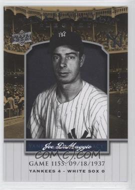 2008 Upper Deck - Multi-Product Insert Yankee Stadium Legacy #YSL1155 - Joe DiMaggio