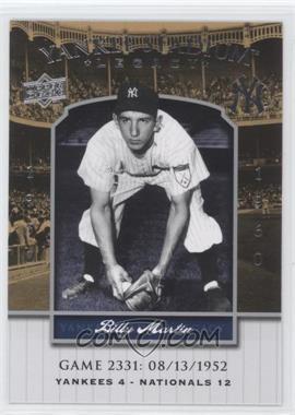 2008 Upper Deck - Multi-Product Insert Yankee Stadium Legacy #YSL2331 - Billy Martin