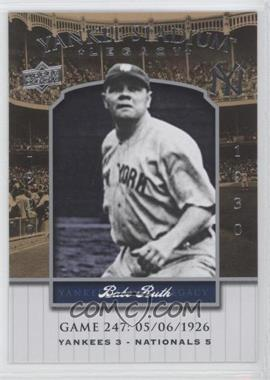 2008 Upper Deck - Multi-Product Insert Yankee Stadium Legacy #YSL247 - Babe Ruth