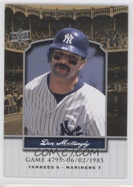 2008 Upper Deck - Multi-Product Insert Yankee Stadium Legacy #YSL4795 - Don Mattingly