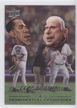 2008 Upper Deck - Presidential Predictors Runningmates #PP-14 - Barack Obama, John McCain
