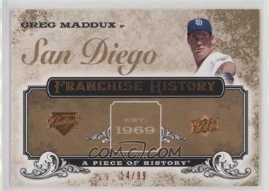 2008 Upper Deck A Piece of History - Franchise History - Copper #FH-43 - Greg Maddux /99