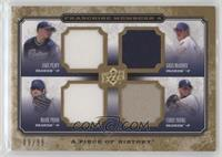 Jake Peavy, Greg Maddux, Mark Prior, Chris Young #/99