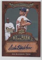 Rookie Autographs - Nick Blackburn