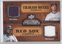 Dual Swatch Memorabilia - Matt Holliday, Manny Ramirez