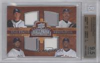 Quad Swatch Memorabilia - Scott Kazmir, Randy Johnson, Francisco Liriano, Johan…