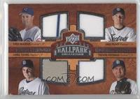 Quad Swatch Memorabilia - Greg Maddux, Jake Peavy, Chris Young, Trevor Hoffman