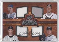 Quad Swatch Memorabilia - Greg Maddux, Mike Mussina, Roy Halladay, John Smoltz