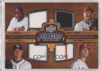 Quad Swatch Memorabilia - C.C. Sabathia, Randy Johnson, Scott Kazmir, Cole Hame…