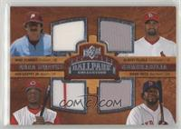 Quad Swatch Memorabilia - Albert Pujols, Mike Schmidt, Ken Griffey Jr., David O…